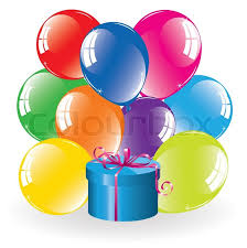bunch of balloons vector bunch of colorful balloons and a gift box in the sky