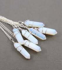 crystal quartz necklace pendant images Crystal opal necklace images jpg