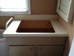 casalupoli laundry room update the sink and countertop