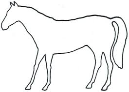 horse outline images group 81