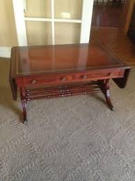 leather top side table antique coffee table duncan phyfe mahogany leather top side accent
