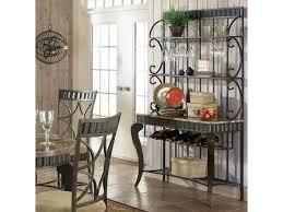 steve silver hamlyn faux marble top metal bakers rack olinde u0027s