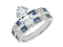 benitoite engagement ring blue engagement rings from mdc diamonds nyc