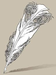 quill pen tattoo design line work by awolfillustrations on deviantart