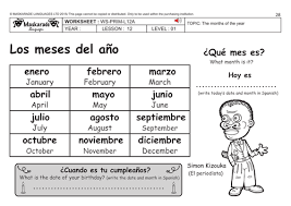 spanish ks2 level 1 months of the year happy birthday lulu by