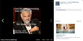 Ted Cruz Memes - facebook s ted cruz meme page will literally give you a headache