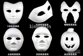where to buy masks costume party mask paper pulp mask diy self portrait