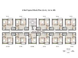 Apartment Block Floor Plans 2 Bhk Apartment In Joka Plan Ground Floor U0026 Typical Block Plan