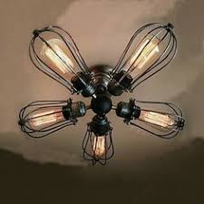 Edison Ceiling Light Westmenlights Farmhouse Cage Ceiling Chandelier Rustic 3 Lights