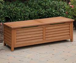 Wooden Bench With Cushion Brilliant Cushion Storage Bench Outdoor Storage Ideas Wooden Shoe