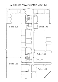Commercial Office Floor Plans Commercial Office Space For Rent In Mountain View Ca Office