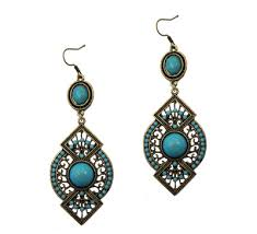 vintage earrings blue vintage earrings fashion store