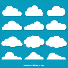 selection of decorative clouds in flat design vector free