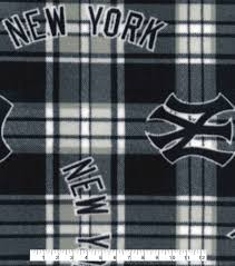 New York Yankees Home Decor Licensed Plaid Fleece New York Yankees Joann