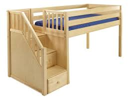 Ana White Build A Camp Loft Bed With Stair Junior Height Free by Maxtrix Kids Low Loft Bed With Stairs Big Room Pinterest