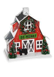 country home accents and decor home accents country christmas barn scene decor belk