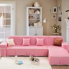 sunnyrain pink sofa cover sectional sofa covers for l shaped sofa