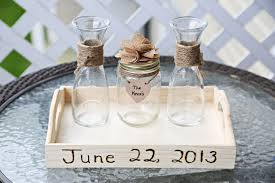 wedding sand ceremony vases handmade wedding unity sand ceremony set with lace flower u0026 tray