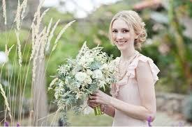 a romantic wedding with a pink wedding dress lauren dan green