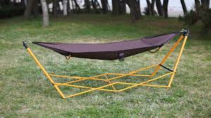 build free standing hammock holder