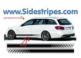 mercedes decal mercedes e class station wagon evo look side stripe sticker