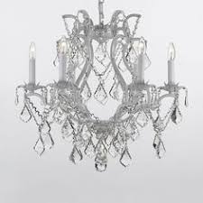 Maria Theresa 6 Light Crystal Chandelier Hampton Bay Maria Theresa 6 Light Acrylic Chandelier Sparkles Like