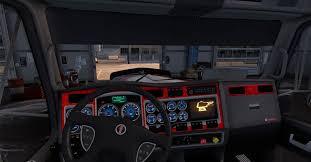 kenworth website kenworth w900 dashboard blue mod american truck simulator mod