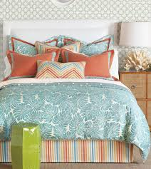 blue pattern tropical bedding sets with colorful striped tufted