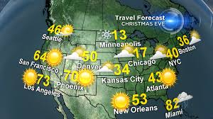 Seattle Weather Map by A Quiet Christmas Weather Week Cbs Dallas Fort Worth
