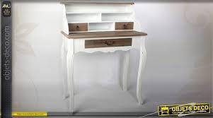 rehausse bureau bureau secrétaire patine deux tons avec trois tiroirs et rehausse