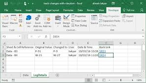 track changes automatically in worksheet with vba excel vba