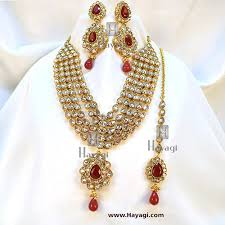 red necklace online images Kundan ad red white necklace set bridal online india hayagi jpg