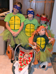 diy girls u0027 ninja turtle costumes with tutus ninja turtle