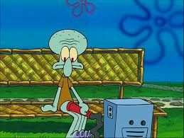 image squidward with a reef blower png encyclopedia