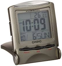 amazon com casio travel clock pq 50j 8 display metallic gray