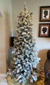 diy flocked christmas tree a wonderful thought