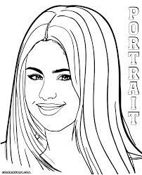 selena gomez coloring pages