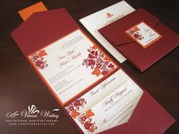 fall themed wedding invitations wedding invitations