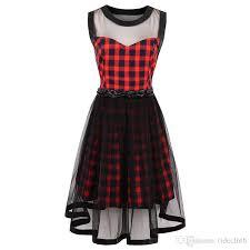 cool dresses 2018 plaid dress women summer mesh casual dresses