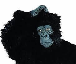 amazon com rg costumes men u0027s latex gorilla mask black x large
