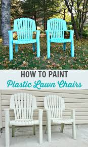 Painting Metal Patio Furniture - how to spray paint plastic lawn chairs dans le lakehouse