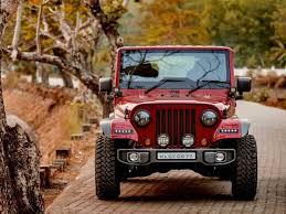 modified jeep 2017 mahindra thar disguised as a jeep wrangler drivespark news