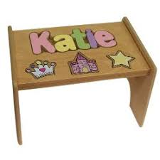amazon com personalized princess wooden puzzle stool stool color