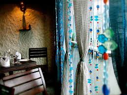 Blue Butterfly Curtains Moroccan Blue Bead Curtain Memories Of A Butterfly Buy Beaded
