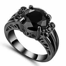 black cubic zirconia engagement rings black clear cubic zirconia engagement ring 10kt black gold