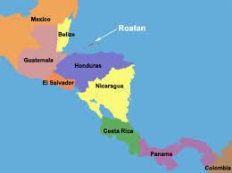 america map honduras maps of roatan island in the western caribbean area