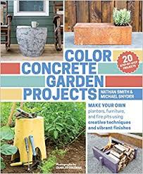 color furniture color concrete garden projects make your own planters furniture