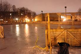 outdoor hockey rink montreal backyard and yard design for village