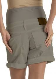 maternity shorts cotton maternity shorts in taupe by
