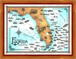 florida shipwrecks map the florida east coast shipwreck expo capt dan berg s guide to